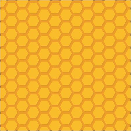 looped: Honeycomb Beehive, Orange Vector Background, Looped Pattern Texture Illustration.