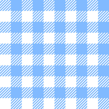 Tablecloth in blue with Checkered design. Pattern Texture Illustration. Vector Looped Background. Ilustração