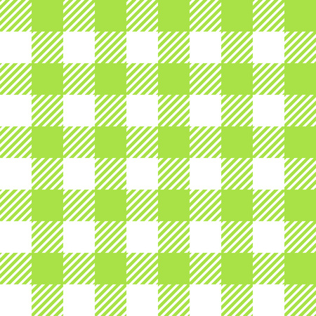 picnic blanket: Tablecloth in green with Checkered design. Pattern Texture Illustration. Vector Looped Background. Illustration