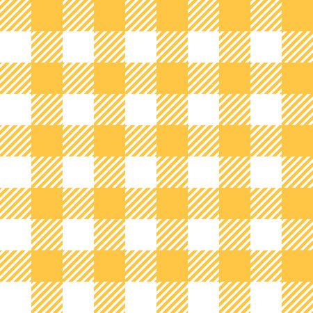 country kitchen: Tablecloth in yellow with Checkered design. Pattern Texture Illustration. Vector Looped Background. Illustration