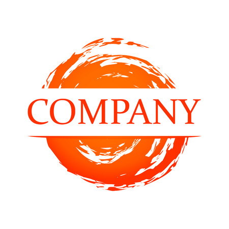 blot: Orange Blot - Vector Element for Logotype of Company