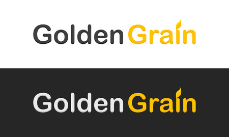 grain: Golden Grain - Vector logotype isolated on white and black background