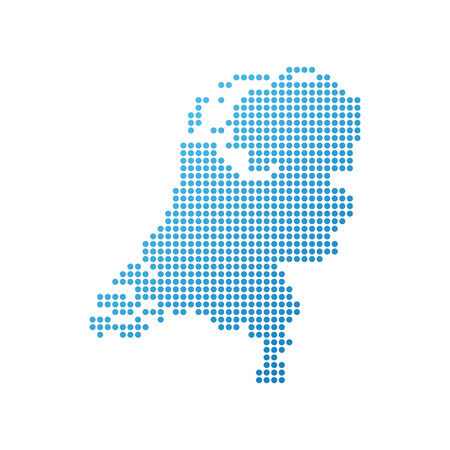 netherlandish: Map of Netherlands, Vector Icon in blue modern style