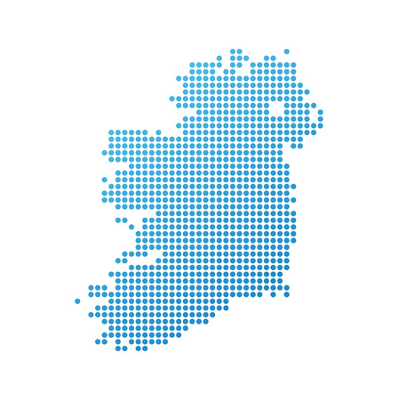Map of Ireland, Vector Icon in blue modern style