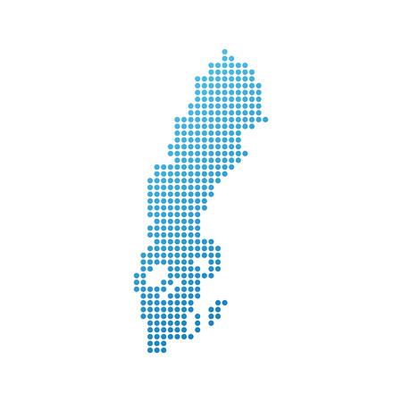 Karte von Schweden, Vektor-Symbol in blau modernen Stil