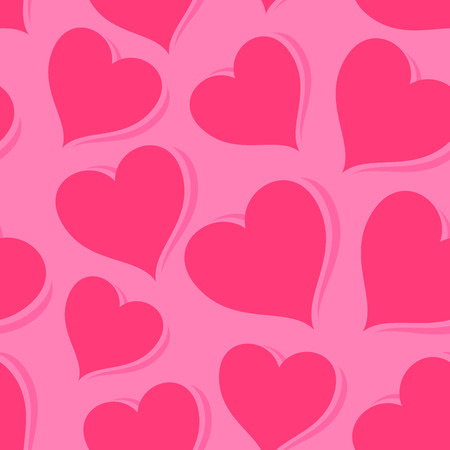 looped: Pink Hearts, Seamless Looped Pattern, Celebration Wallpaper symbolizing Love.