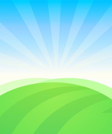 Rural  Landscape Vector illustration.  イラスト・ベクター素材