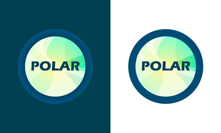 Round Emblem form store with style text. Vector Logo isolated on white and dark background. Illusztráció