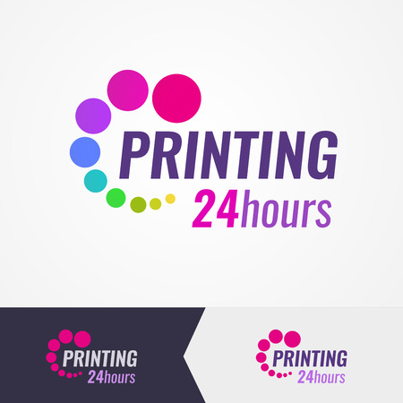 Printing salon colorful on different backgrounds