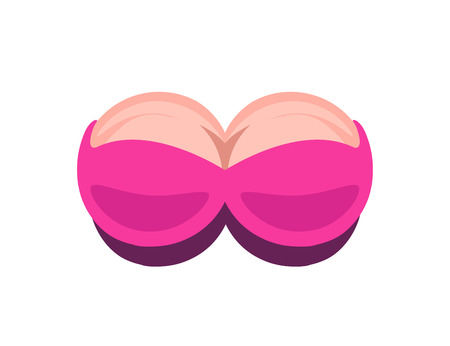 Pink Uplift for Bra Store or Intim Saloon Illustration
