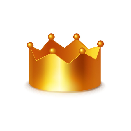 Golden Crown, Vector Clipart on white