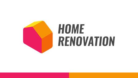 Rénovation domiciliaire, illustration de logo vectoriel pour le service de rénovation Logo