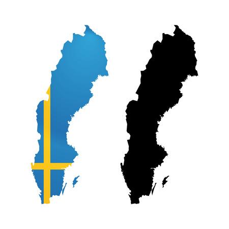 Symbol of Sweden in Color from National Flag