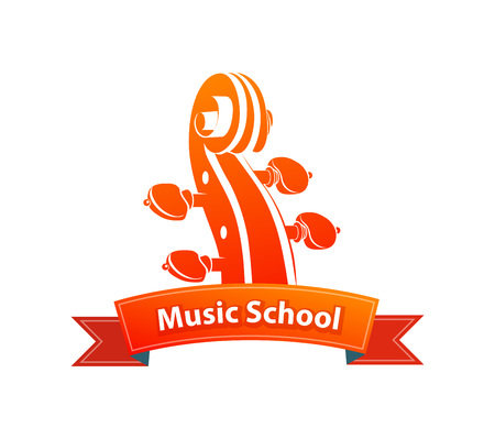 Logo Emblem for Music School Illustration