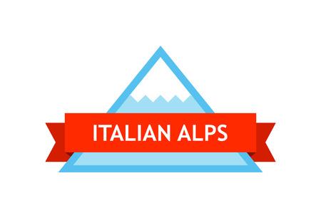 Logo of Italian Alps  イラスト・ベクター素材