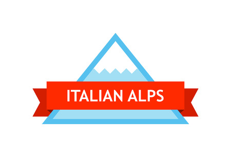 Logo of Italian Alps Иллюстрация