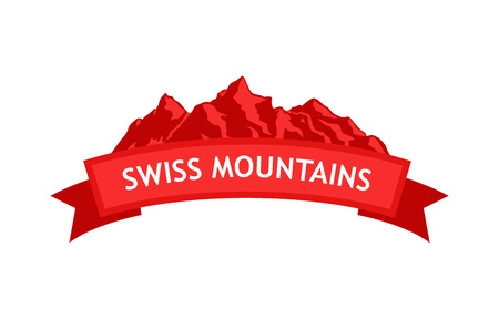 Logo of Swiss Mountains Illustration