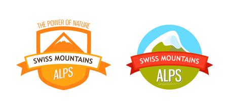 Vector Logo of Swiss Alps