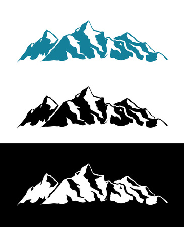 Vector Logo of Alps Mountains Illustration