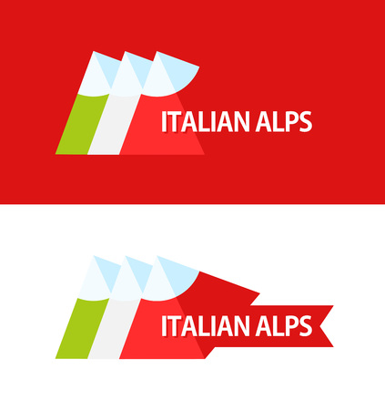 Logo of Italian Alps Illustration