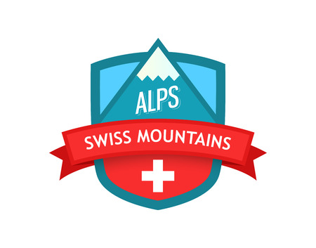 Vector Logo of Swiss Mountains