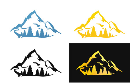 Set of Nature Symbol Illustrations Illustration