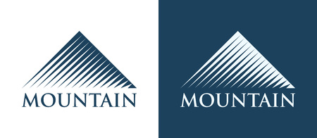 Vector Logotype of Mountains Illustration