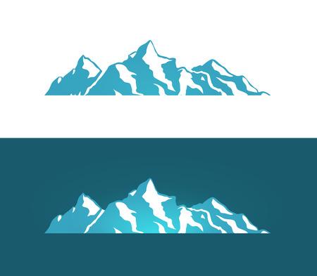 Logotipo de las montañas de los Alpes