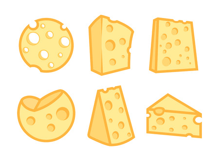 Set of Cheese Icons