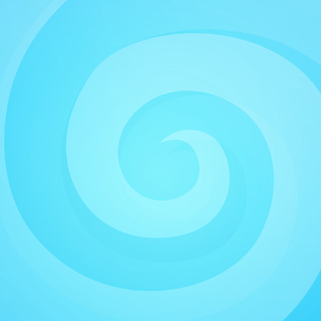 Bright Swirl in Blue Colors, Vector Abstract Background with Cheerful Mood and Soft Filing.