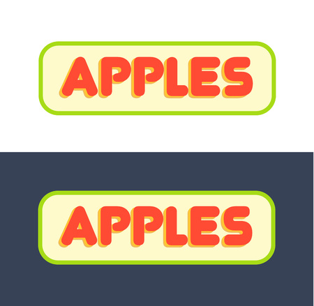 Logos for Market with Fruits and Grocer Store Çizim