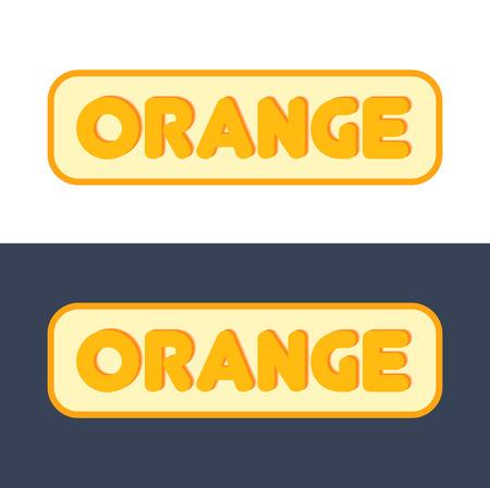 Logo with Sign of Orange Fruit