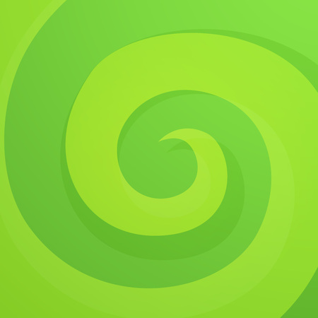 Green Abstract Twirl Background in Bright Vivid Color. Style Dynamic Backdrop.  イラスト・ベクター素材