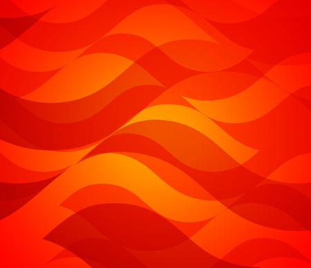 Clean Frame with Abstract Pattern of Wavy Fire Flame, Red Colorful Vector Background.