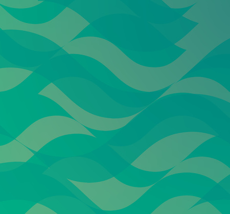 Turquoise Abstract Background with Shapes of Waves. Vector Backdrop with Motion of Water Ilustración de vector