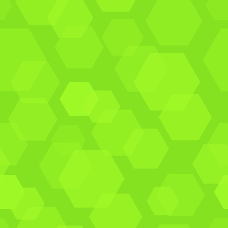 Abstract Background with Green Hexagon, Vector Illustration of Nature. Stock Illustratie