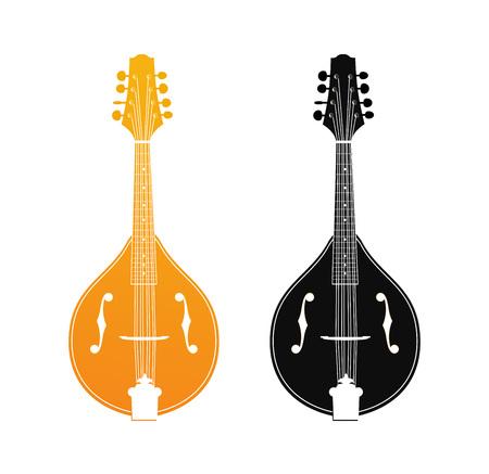 Set of Mandolin in Orange and Black Colors