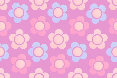 Background with Cute Chamomile Flowers