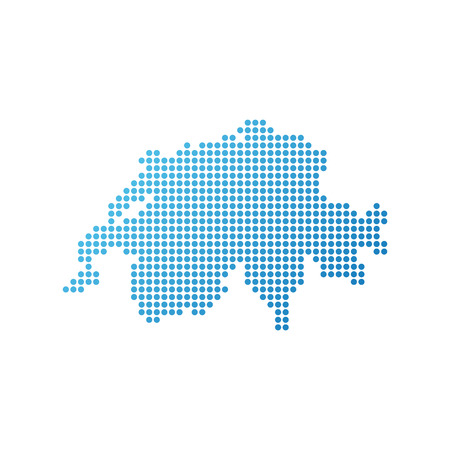 Map of Switzerland, Vector Icon in blue modern style