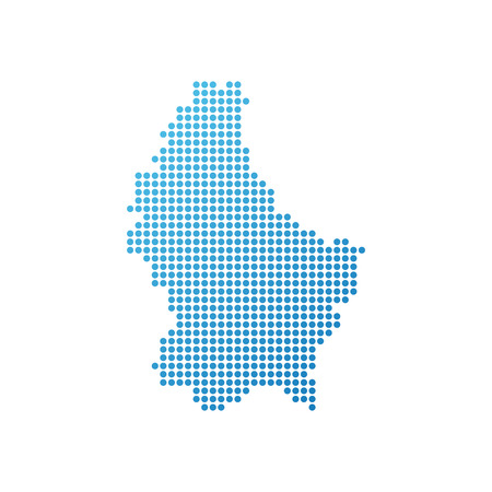 Map of Luxembourg, Vector Icon in blue color