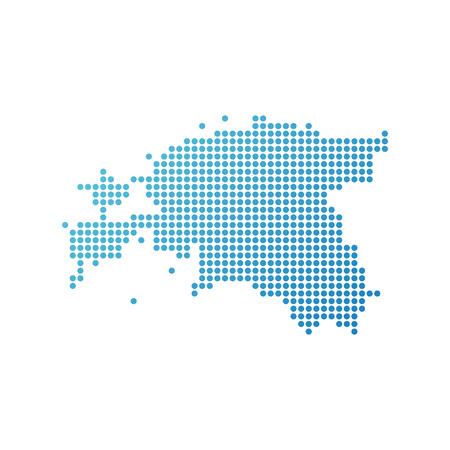 Map of Estonia, Vector Icon in blue modern style Vektorgrafik