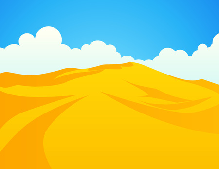 Desert sand dunes, Vector Landscape Illustration of Sahara. Ilustrace