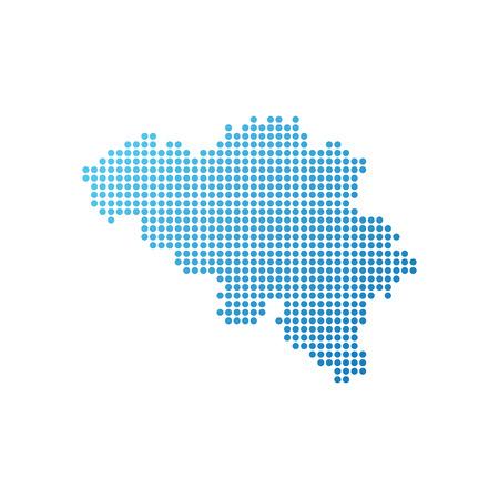 Map of Belgium, Vector Icon in blue color Ilustração