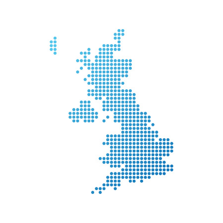 Map of United Kingdom, Vector Icon in blue color