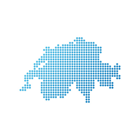 Map of Switzerland, Vector Icon in blue modern style Banque d'images - 113567050