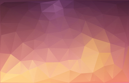 abstract triangulated background in orange and dark magenta colors