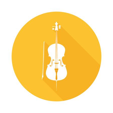 Icon of Cello Illustration