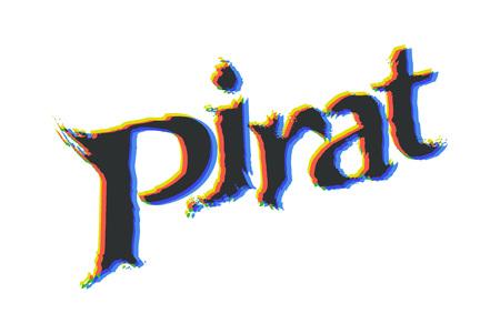 Pirat - Text Logotype Ilustração