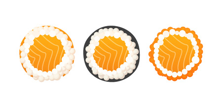 Set of rolls - Vector Illustrations of Japanese cuisine isolated on white background