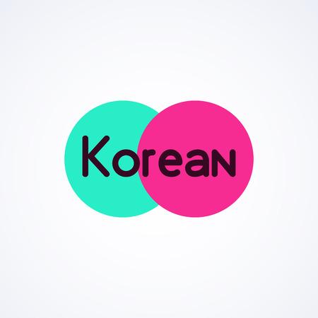 Colorfull emblem for Korean Business - Vector modern emblem isolated on white